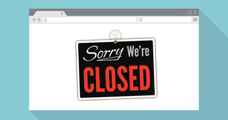 website gesloten