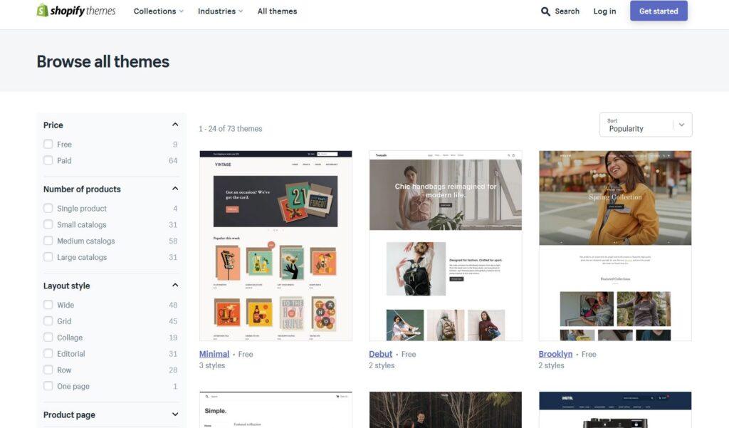 Shopify webshop design