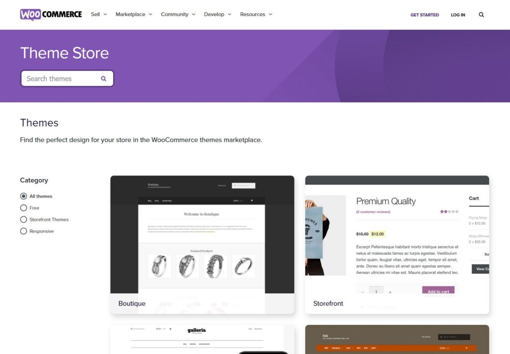 Woocommerce webshop design